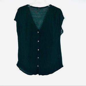 Aritzia black button down t-shirt
